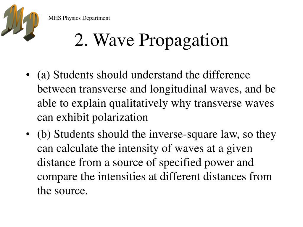 2. Wave Propagation