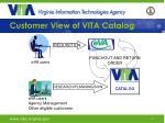 customer view of vita catalog