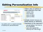 editing personalization info