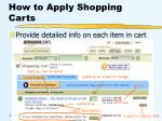 how to apply shopping carts38