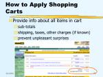how to apply shopping carts39