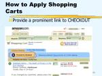 how to apply shopping carts40