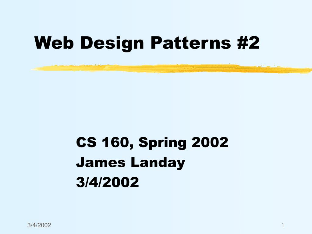 web design patterns 2 l.