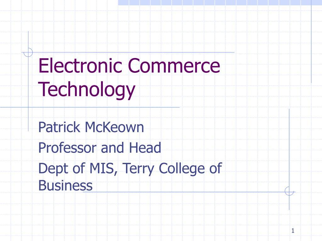 electronic commerce technology l.
