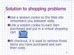 solution to shopping problems
