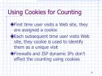 using cookies for counting