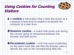 using cookies for counting visitors