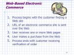web based electronic commerce