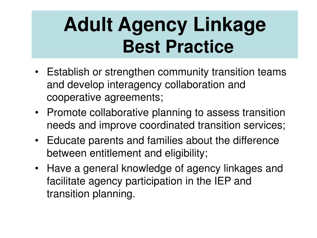 Adult Agency Linkage