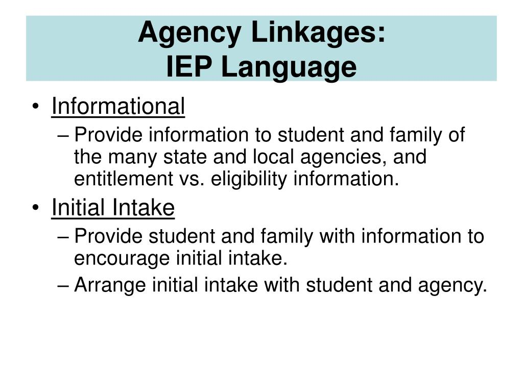 Agency Linkages: