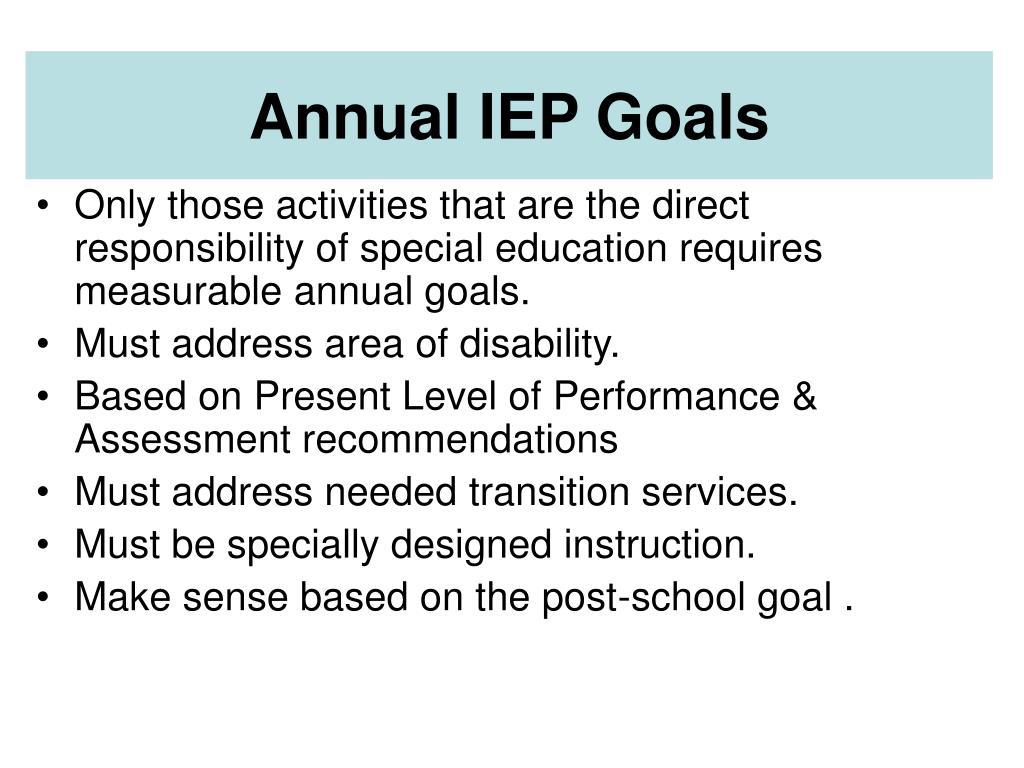Annual IEP Goals