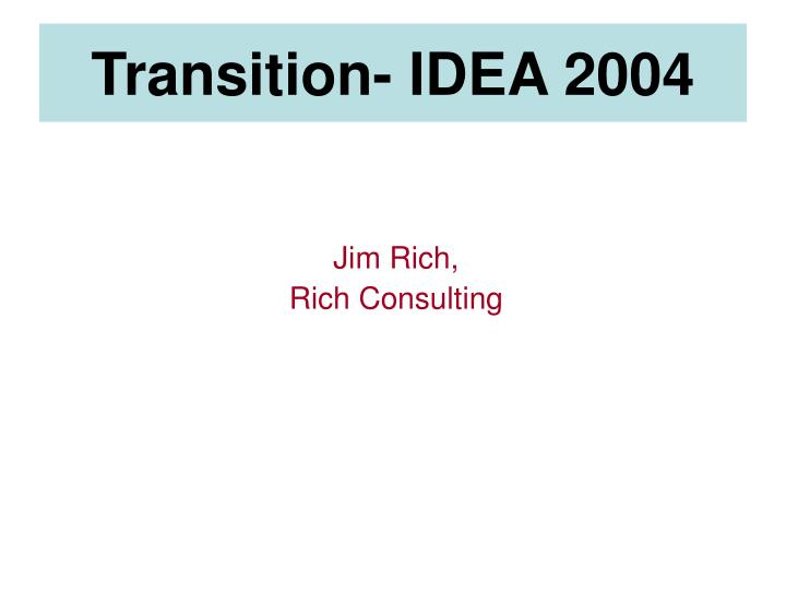 Jim rich rich consulting