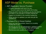 asp model vs purchase