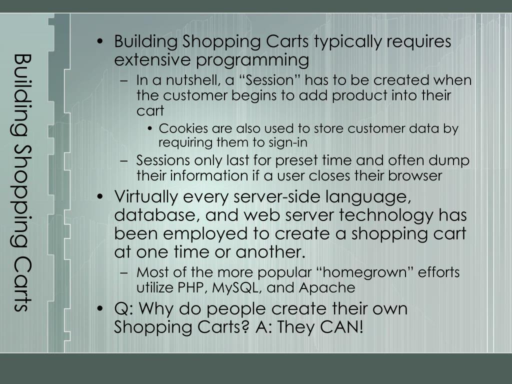 Building Shopping Carts