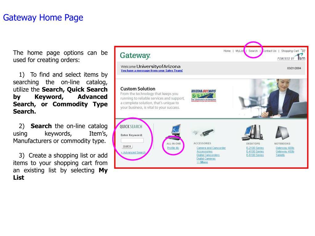 Gateway Home Page