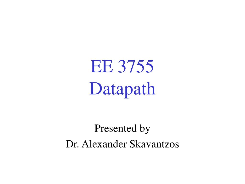 ee 3755 datapath l.