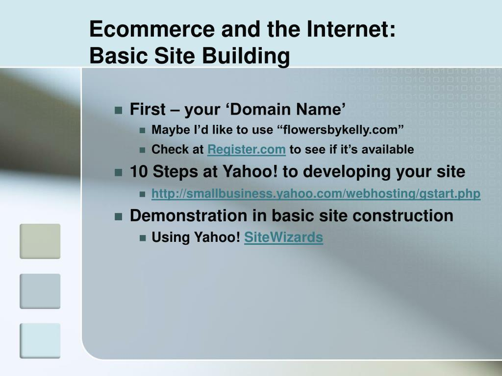 Ecommerce and the Internet: