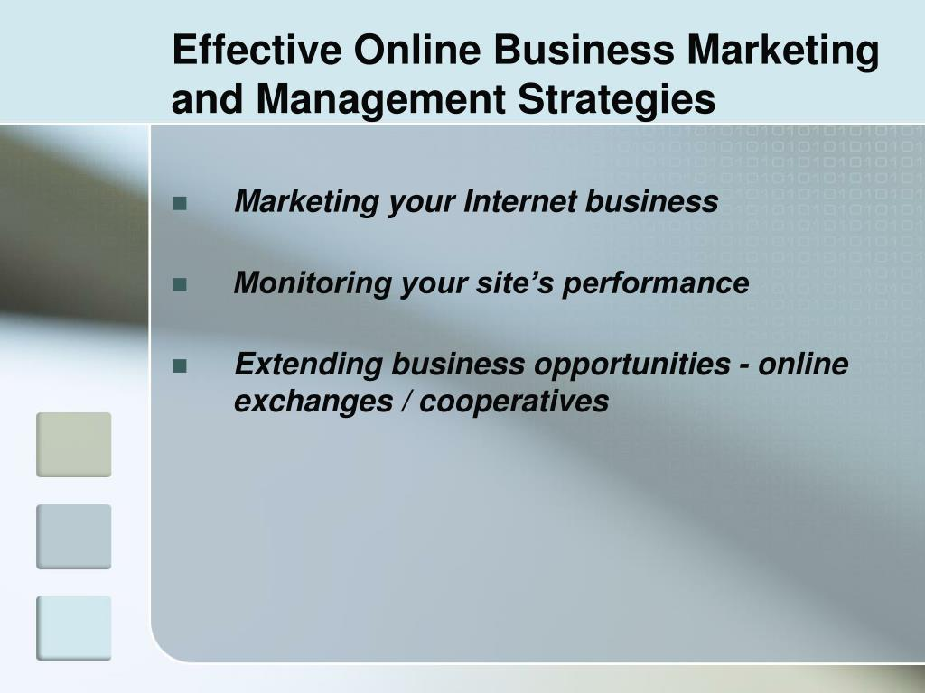 Effective Online Business Marketing and Management Strategies