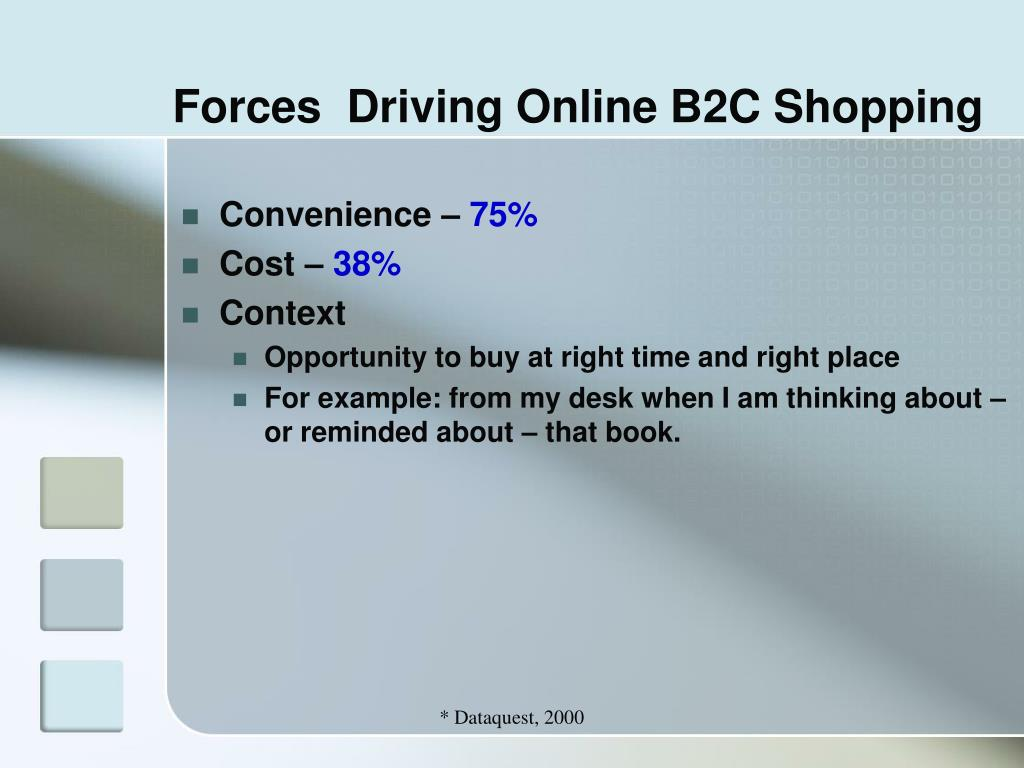 Forces  Driving Online B2C Shopping