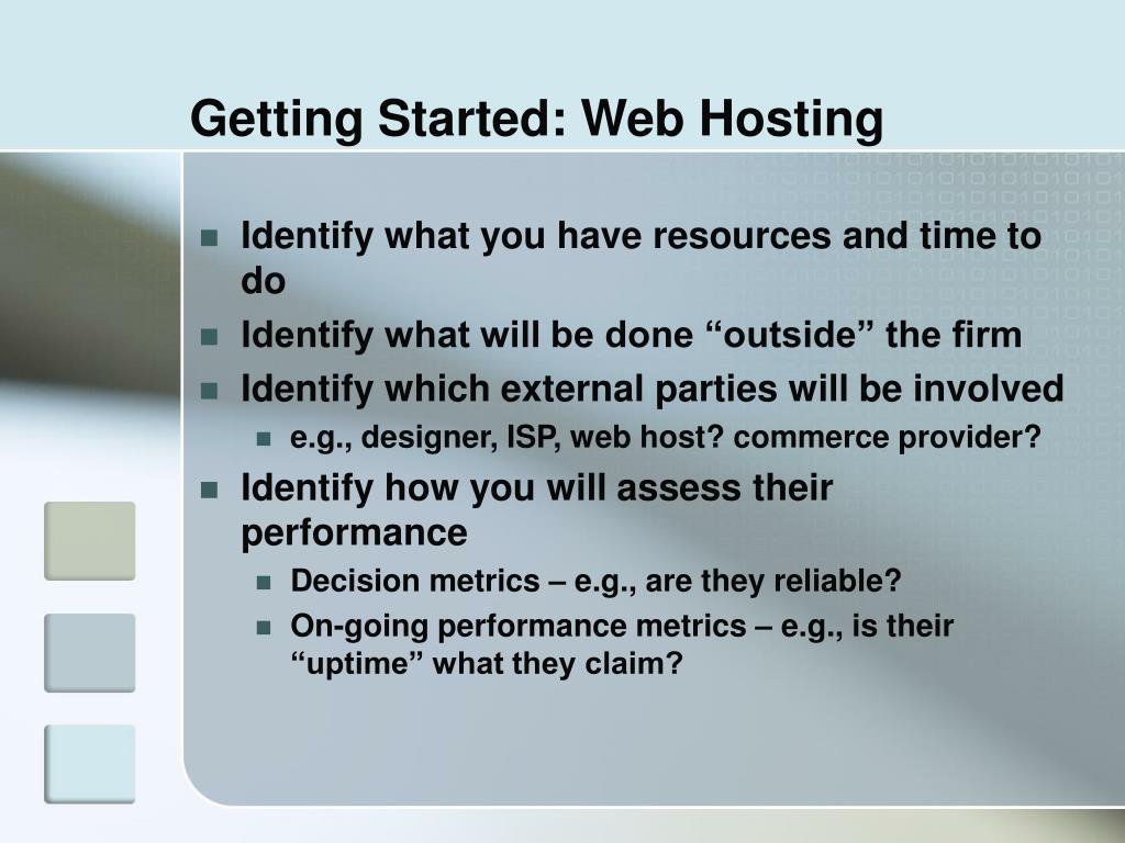 Getting Started: Web Hosting