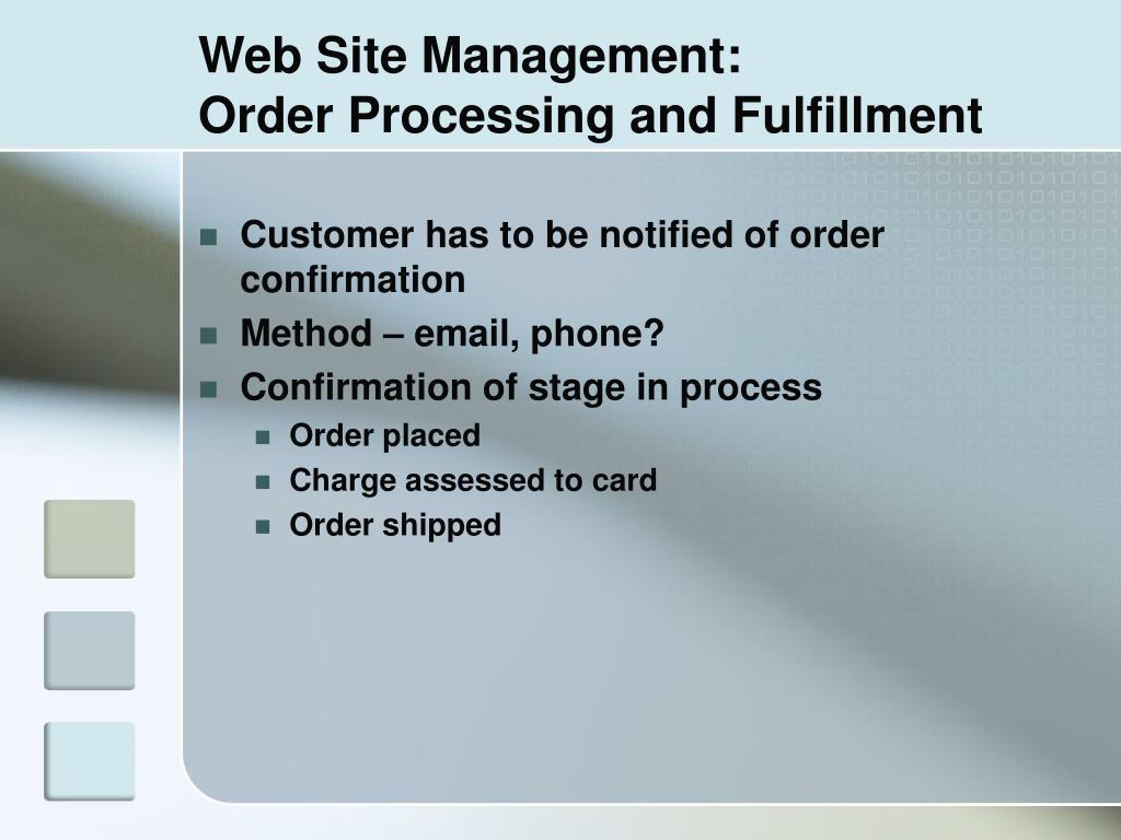 Web Site Management: