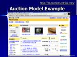 auction model example