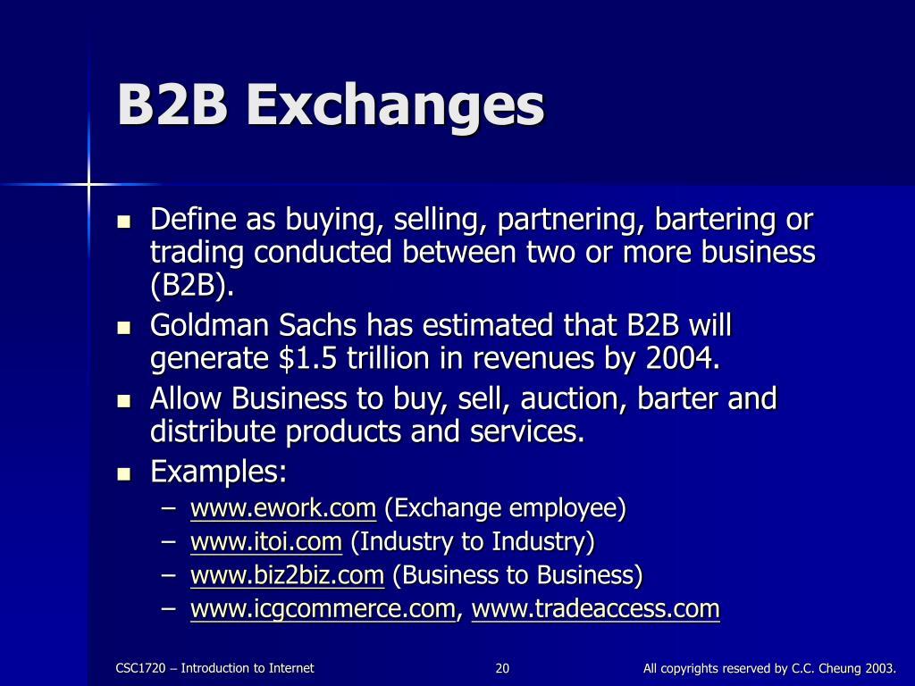 B2B Exchanges