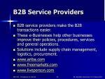 b2b service providers