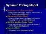 dynamic pricing model