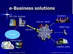 e business solutions