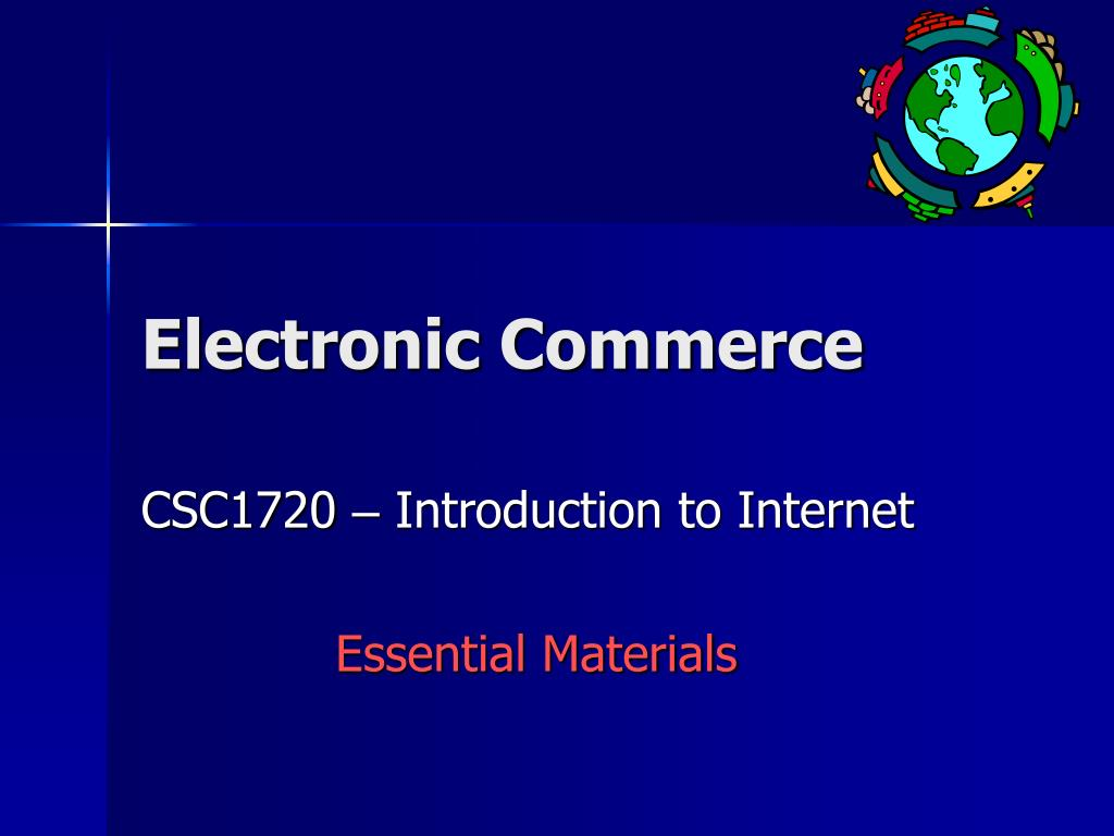 electronic commerce l.