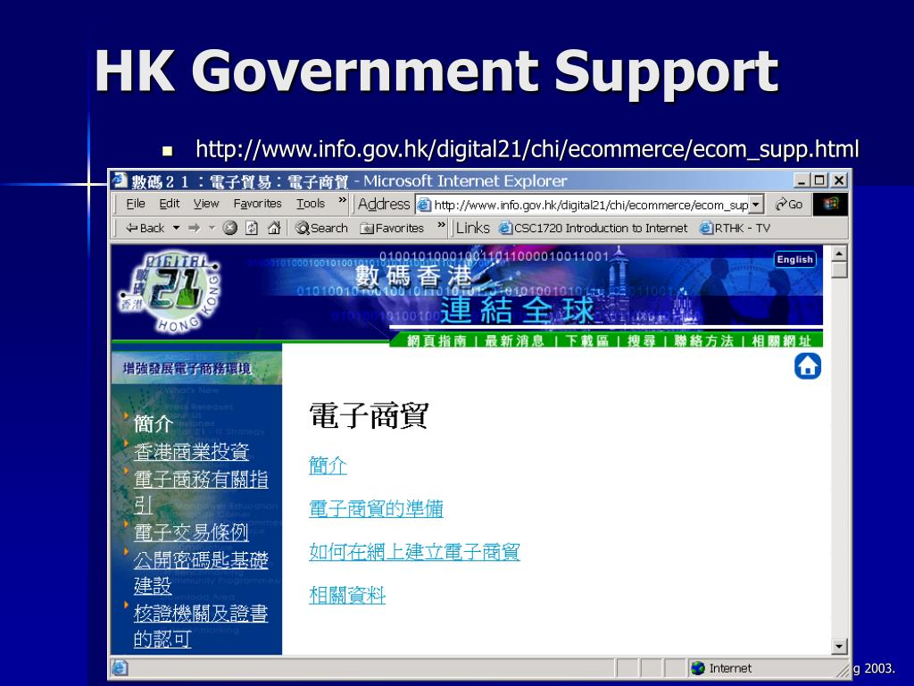 HK Government Support