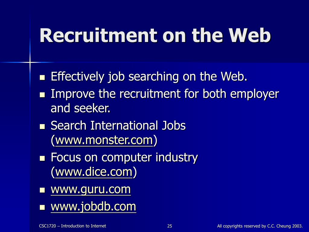 Recruitment on the Web