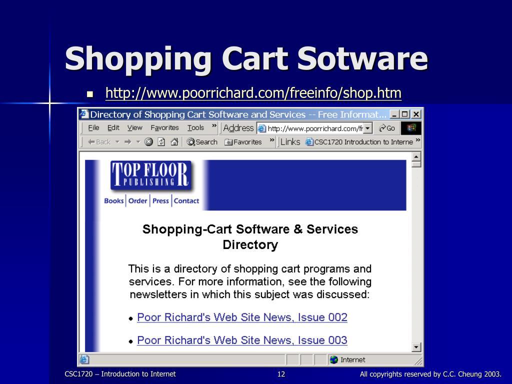 Shopping Cart Sotware