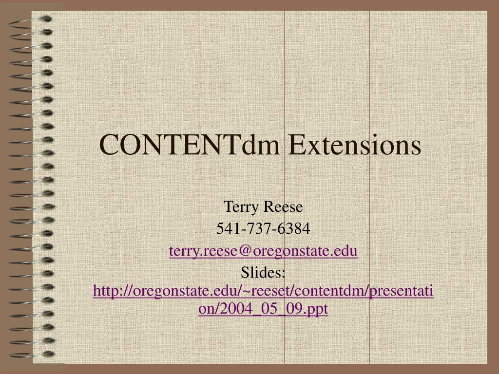 contentdm extensions l.