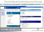 hhs fda fema and fire administration promote cdc content