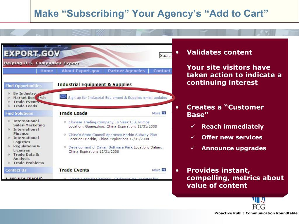 "Make ""Subscribing"" Your Agency's ""Add to Cart"""