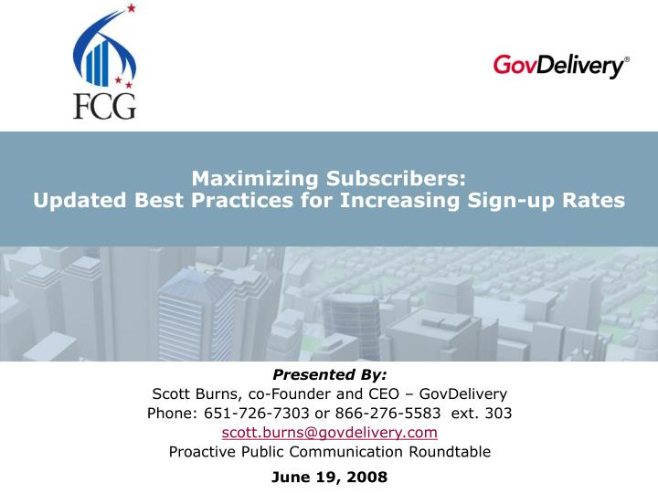 Maximizing subscribers updated best practices for increasing sign up rates