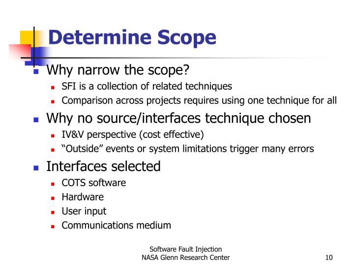 Determine Scope