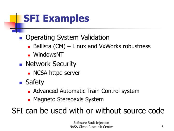 SFI Examples