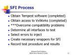 sfi process