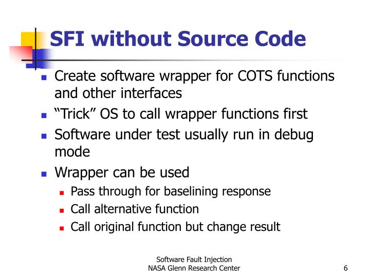 SFI without Source Code