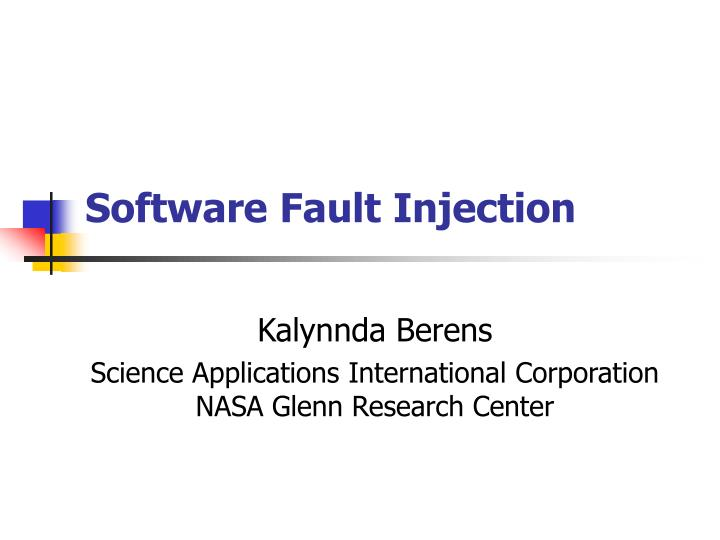 software fault injection n.