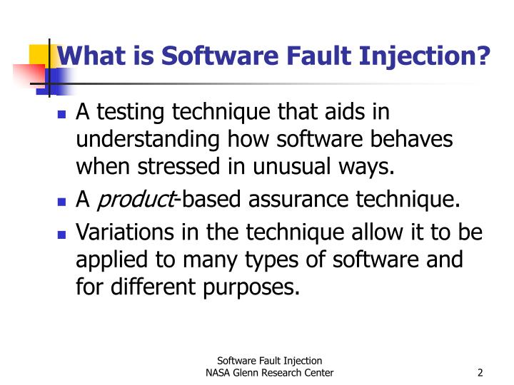 What is software fault injection