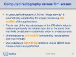 computed radiography versus film screen