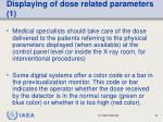 displaying of dose related parameters 1