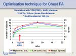 optimisation technique for chest pa
