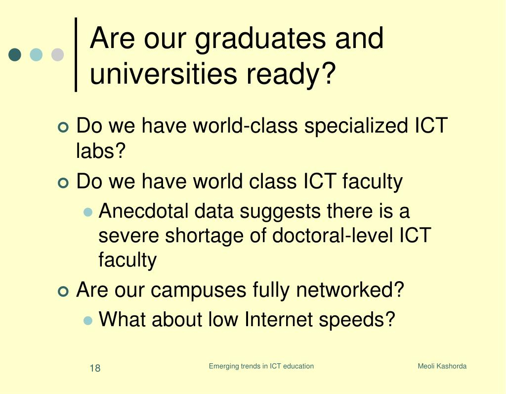 Are our graduates and universities ready?