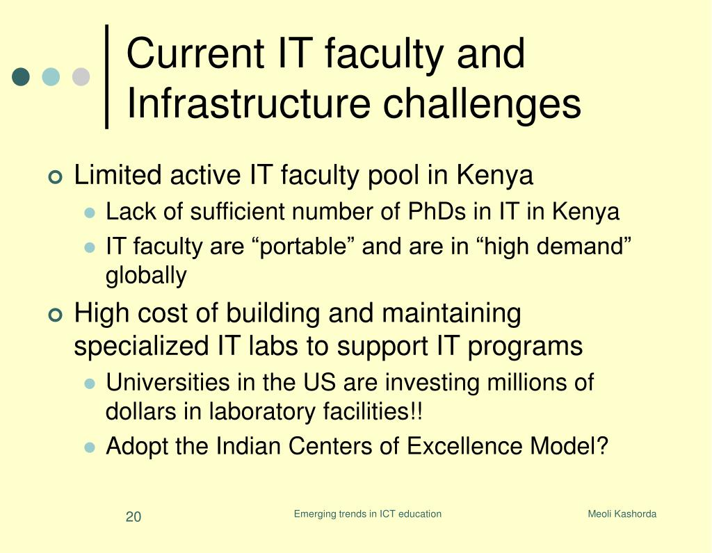 Current IT faculty and Infrastructure challenges