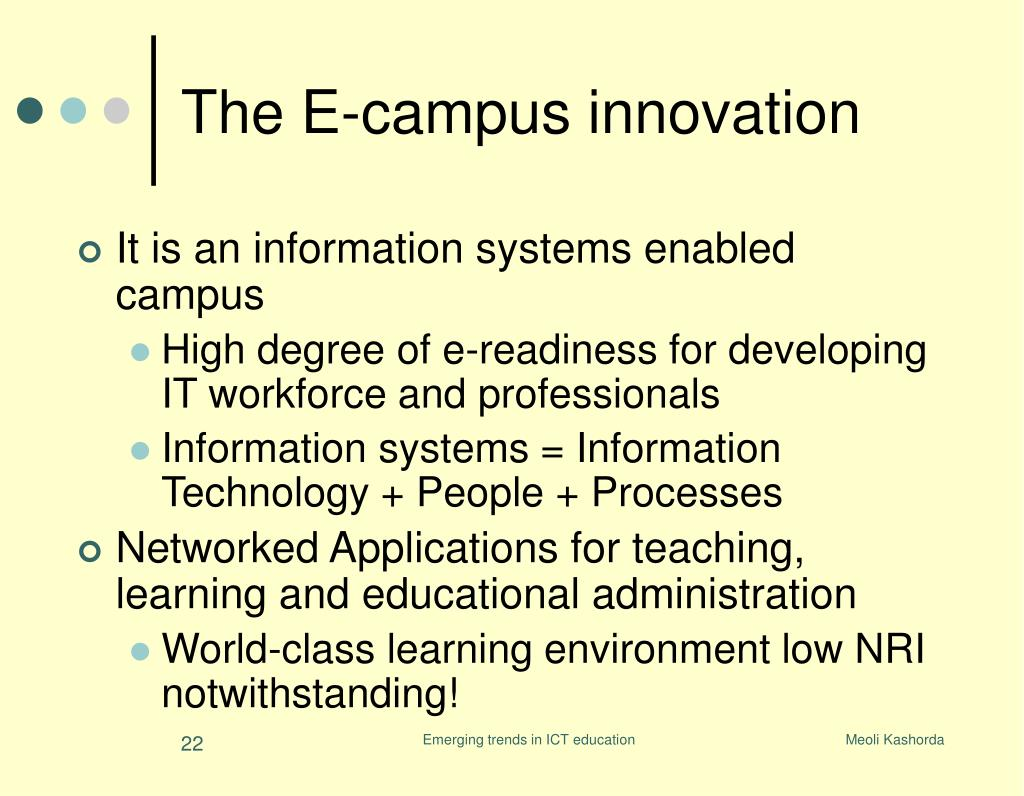The E-campus innovation